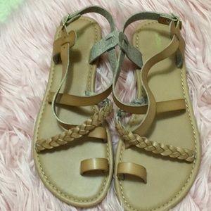 NWOT Braided Sandals